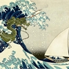 Hokusai's Wave off Kanagawa with Max from Where the Wild Things Are in the well and a Kuniyoshi drag